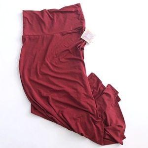 LulaRoe Maxi Skirt Garnet Color NWT Medium
